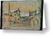 Rice Storage In Muros 1982 Greeting Card by Glenn Bautista