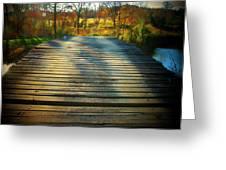 Rickety Bridge Greeting Card by Joyce Kimble Smith