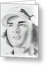 Rickie Fowler Greeting Card by Pat Moore