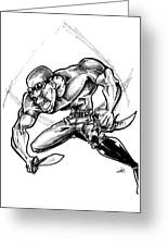 Riddick Greeting Card by Big Mike Roate