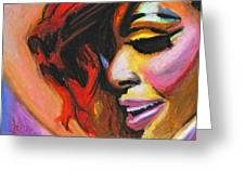 Rihanna Smile Greeting Card by Siobhan Bevans