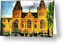 Rijksmuseum Greeting Card by Anthony Caruso