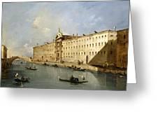 Rio Dei Mendicanti Greeting Card by Francesco Guardi