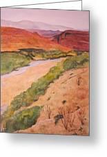 Rio Grande River Valley Greeting Card by Myrna Salaun