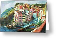 Riomaggiore Italy Greeting Card by Conor McGuire