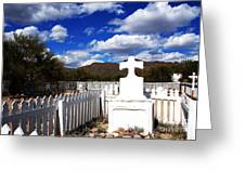 R.i.p. In Old Tuscon Az Greeting Card by Susanne Van Hulst