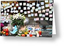 Rip Steve Jobs . October 5 2011 . San Francisco Apple Store Memorial 7dimg8574 Greeting Card by Wingsdomain Art and Photography