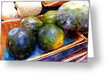 Ripe And Luscious Melons Greeting Card by RC DeWinter