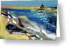 Rising Wind Greeting Card by Anne Weirich
