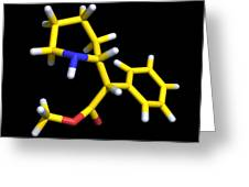 Ritalin Molecule Greeting Card by Dr Tim Evans