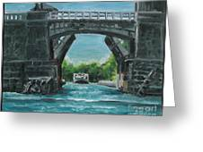 River Charles Greeting Card by Rich Arons