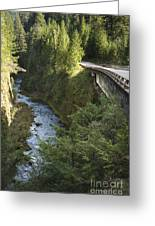 River In Gorge Next To Highway Greeting Card by Ned Frisk