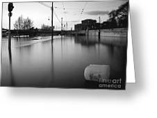 River In Street Greeting Card by Odon Czintos