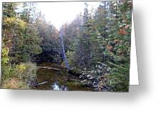 River In The Woods Greeting Card by Ted Kitchen