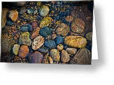 River Rock Greeting Card by Karol  Livote