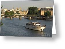 River Seine In Paris Greeting Card by Bernard Jaubert