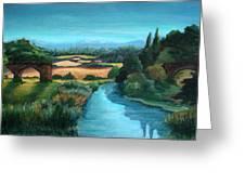 River Stour At Sturminster Newton Dorset England Greeting Card by Ethel Vrana