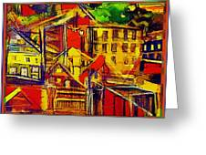 River Town In Ohio Greeting Card by Mindy Newman