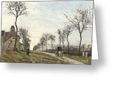Road in Louveciennes Greeting Card by Camille Pissarro