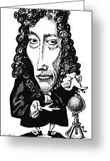 Robert Boyle, Caricature Greeting Card by Gary Brown
