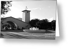 Robert Mondavi Napa Valley Winery . Black And White . 7d9029 Greeting Card by Wingsdomain Art and Photography