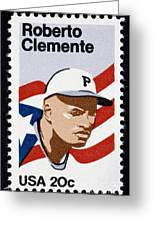 Roberto Clemente Greeting Card by Granger