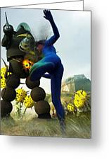 Robot Fighter V2 Greeting Card by Michael Knight