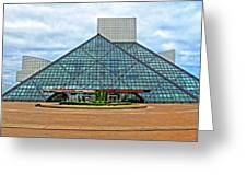 Rock And Roll Hall Of Fame Greeting Card by Dave Mills