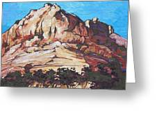 Rock Face 2 Greeting Card by Sandy Tracey