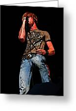 Rock Singer Greeting Card by Randy Steele