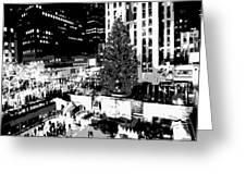 Rockefeller Tree Bw8 Greeting Card by Scott Kelley