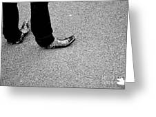Rocking Boots Greeting Card by Dean Harte