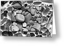 Rocks And The Opposite Greeting Card by Ron St Jean