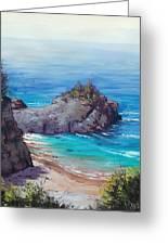 Rocky Coast Big Sur  Greeting Card by Graham Gercken