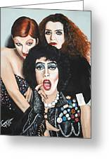 Rocky Horror Picture Show Greeting Card by Tom Carlton