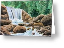 Rocky Waterfalls Greeting Card by Anthony Nold