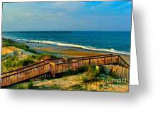 Rodanthe on the Outer Banks Greeting Card by Julie Dant