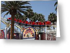 Roller Coaster - 5d17628 Greeting Card by Wingsdomain Art and Photography