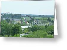 Roller Coaster Skyline Greeting Card by Kelly Schwartz