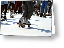 Roller Skates Greeting Card by Emanuel Tanjala