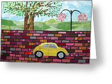 Rolling On The Bricks Greeting Card by Charlene White
