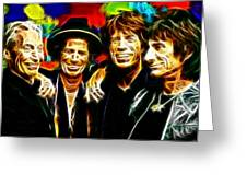 Rolling Stones Mystical Greeting Card by Paul Van Scott