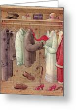 Romance In The Cupboard Greeting Card by Kestutis Kasparavicius