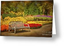 Romantic Flower Garden Greeting Card by Cheryl Davis