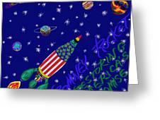 Romney Rocket - Restoring America's Promise Greeting Card by Robert SORENSEN