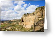 Ronda Cliffs in Andalusia Greeting Card by Artur Bogacki