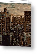 Rooftop Color 6 Greeting Card by Scott Kelley