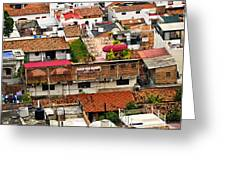 Rooftops in Puerto Vallarta Mexico Greeting Card by Elena Elisseeva