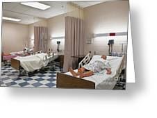 Room In Nursing School Greeting Card by Skip Nall