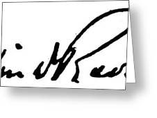 Roosevelt Signature Greeting Card by Granger